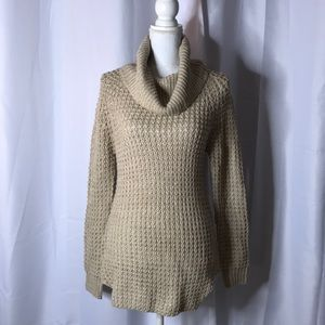 Sweaters - Knit cowl neck sweater